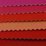 2017 couros sintéticos do PVC do plutônio do Litchi elegante para o saco (A1086)