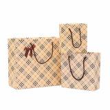 Le sac à provisions fait sur commande, sac de papier de cadeau, remettent le sac de papier (OEM-JB008)