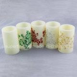 Candela di plastica di sarchiatura senza fiamma Twinkling LED di stampa per la decorazione