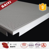 Pó 2017 de Topsale que reveste o teto de alumínio 300*300mm perfurado Moistureproof
