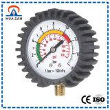 Haute précision mètre de pression de pneu de gaine en caoutchouc de Vitesse-Type de 2.5 pouces