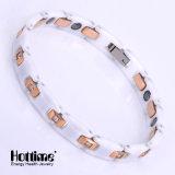 Bracelete do aço inoxidável da forma de duas cores para a forma com Caramic