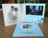 Карточка 5inch брошюры поздравительной открытки LCD изготовленный на заказ приглашения низкой цены видео- с высоким качеством
