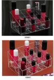 Supporto acrilico del rossetto del basamento E del rossetto della visualizzazione acrilica di trucco