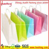 White Craft Paper Shopping Bags avec chaîne torsadée