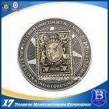 Moneta su ordinazione del metallo 3D con smalto trasparente (Ele-C033)