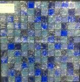 De blauwe Ijs Gebarsten Tegel van het Mozaïek van het Marmer en van het Glas (15*15)
