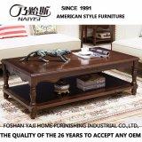 Accueil de haute qualité des meubles en bois massif longue table à café (comme840A)