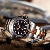 1000m de Buceo Mens Watch oro rosa de acero inoxidable de 500m automático reloj de buceo