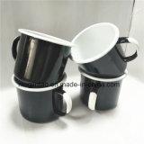 철 주석 컵 스테인리스 두 배 컵 취사 도구 금속 컵
