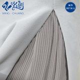 رماديّ نحيلة [رر-زيبّر] نمط سيّدة ثوب مع [شفّون] بطانة