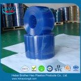 Gordijn van de Strook van de Deur van pvc van de Diepvriezer van de veiligheid het Blauwe Vlotte Vinyl Plastic
