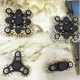 Quantidade de alto preço de fábrica 3 cinco dedos de Engrenagens do Rotor do lado fantástico de metal feitas à mão o rotor/Fidget Spinner