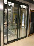 Алюминий Framen стеклянные раздвижные двери в порошок Coateding