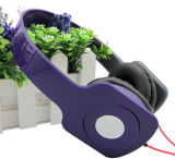 Fone de ouvido ajustável com marca personalizada e almofadas de quadrados duas tomadas de telefone Fone Bonitinha Fones de ouvido