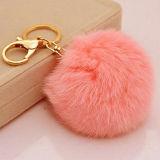 10cmの実質のキツネの毛皮の球の毛皮のポンポンKeychain