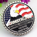Moneda de plata militar del metal de la potencia de aire de encargo