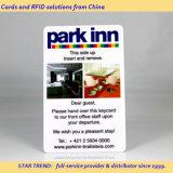 Cartão da porta com selo quente do logotipo do perfurador para o hotel