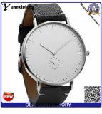 Yxl-314 승진 말 Mens 숙녀 시계 가장 새로운 디자인 진짜 가죽끈 OEM/ODM 관례 2.5 손 시계