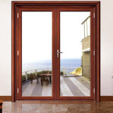 À l'intérieur domicile utilisé Norme australienne profilé en aluminium double vitrage ouvre les portes à battants