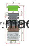 De Schakelaar van de Drukknop van het Type van ver*lichten-Paddestoel van de spiebaan 6-380V