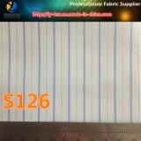 ポリエステル縞ファブリック(S102.126)の現金商品のスーツのライニング