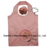 El bolso de compras plegable de los regalos florece el estilo de Rose, bolsos reutilizables, ligeros, de tienda de comestibles y práctico, los accesorios y decoración, promoción