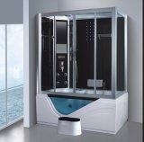 sauna do vapor do retângulo de 1600mm com Jacuzzi e chuveiro para a pessoa 2 (AT-G0211)