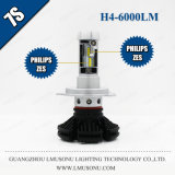 Indicatore luminoso dell'automobile del faro 25W 6000lm LED di Lmusonu 7s H4 LED