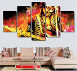 HD 5PCSはJimi Hendrix音楽ギタリストの版画室の装飾プリントポスター映像のキャンバスMc084を印刷した