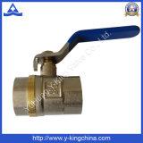 Vávula de bola de cobre amarillo sanitaria usada en el agua (YD-1023)