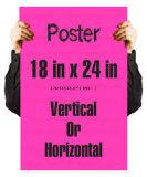 カスタムポスター印刷の安く急な壁の台紙アルミニウムフレームA0/A1/A2/A3/A4ポスター表示旗