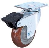 Indurial Rad-Schwenker PU-Fußrolle mit Doppelbremse