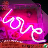 Da luz Shaped da noite do amor do USB sinal de néon para a decoração do quarto do bebê
