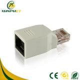 Kundenspezifisches 8p8c Metall überzogener weiblicher RJ45 Datennetz-Adapter