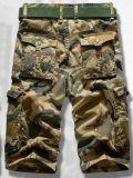 Was van de Kleurstof Comouflage van de Broek 100%Cotton van mensen de Korte voor de Zomer sy-1566