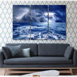 Lona impresa Mc-137 del cuadro del cartel de la impresión de la decoración del taller de impresión de la lona de pintura del mar de la naturaleza de las nubes del cielo de la lluvia del tiempo
