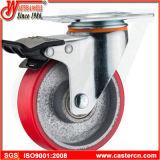 Roulette pivotante PP de 5 pouces avec frein latéral