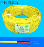 Pulsar el alambre cubierto Teflon del cable de la remuneración del termocople de K