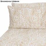 Design vintage imprimé floral feuille de lit en coton