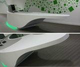 Bureau de réception de forme d'arc pour le bureau