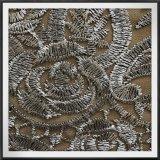 ローズはレースの網の刺繍のレースのローズテュルの刺繍のレースを刺繍した