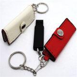 lecteur flash USB à grande vitesse de cuir en métal 8GB