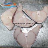 皮が付いている海によってフリーズされるヨシキリザメのステーキ
