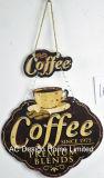 Il disegno fresco del caffè imprime la piastra della decorazione della parete del metallo di stampa