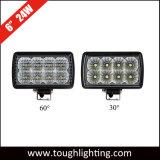 """6"""" de Servicio Pesado rectangular de 24W de alta potencia LED CREE las luces de trabajo"""