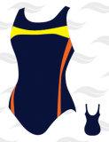 De Stijl Ééndelige Swimwear van de Sport van de dame/Bodysuit (YD10028)