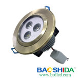 3w LEIDENE In een nis gezette Downlight (BSD-dl-3t-100-23)