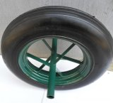 4.00-8 단단한 고무 외바퀴 손수레 바퀴