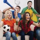 Het Toejuichen van de voetbal de Plastic Hoorn van de Hoorn van Ventilators